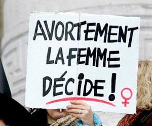 Avortement, la femme décide