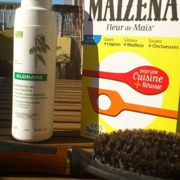 Shampoing sec maizena