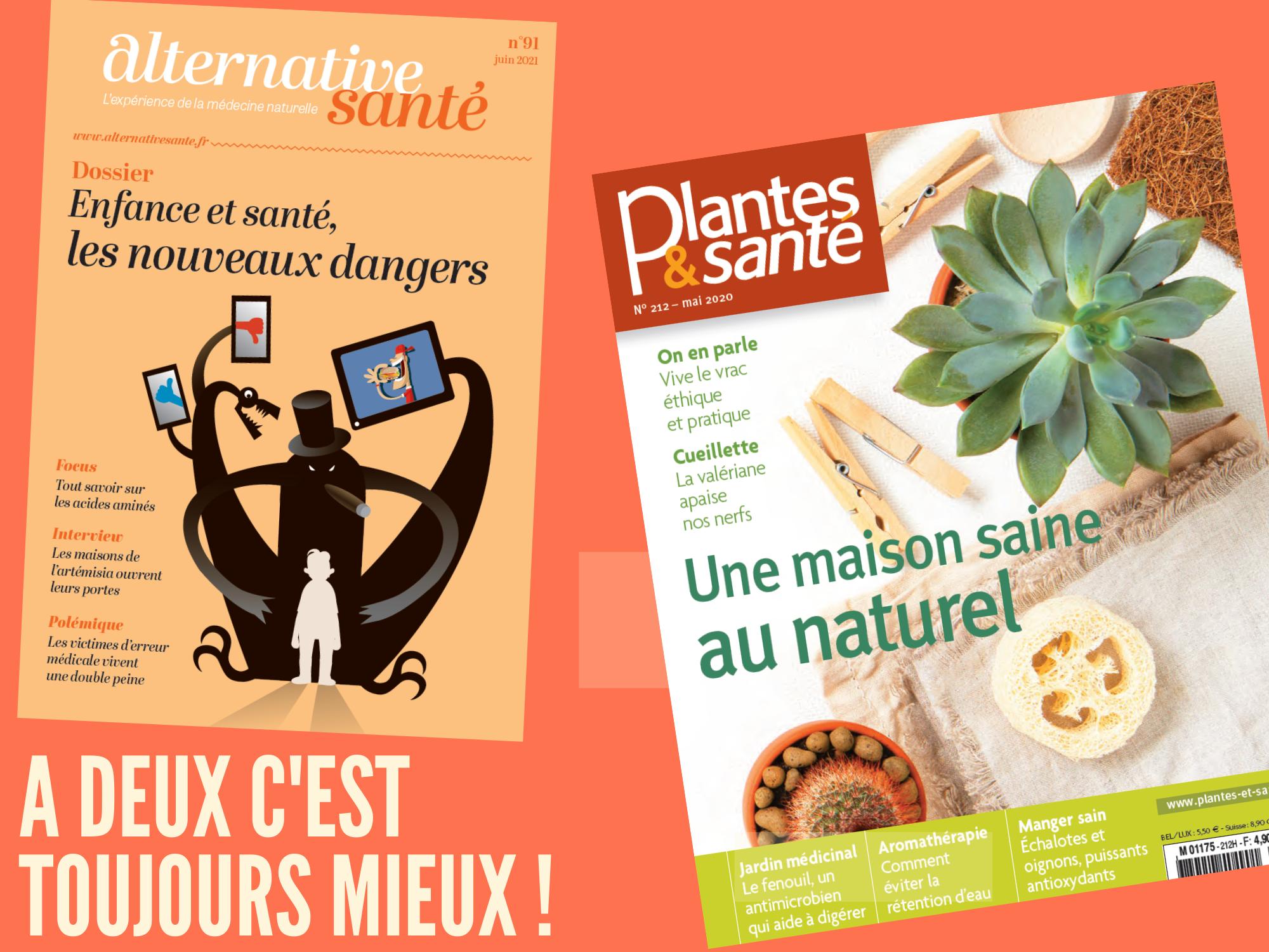 Alternative Santé et Plantes et Santé magazines Ginkgo Média